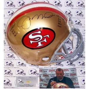 Joe Montana Signed Helmet   Authentic   Autographed NFL