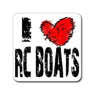 I Love Heart RC BOATS   Window Bumper Laptop Sticker