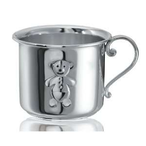 Sterling Silver Teddy Bear Baby Cup Baby
