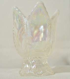 SALE* Fenton Iridescent Carnival Glass Two Way Votive/ Candle Holder