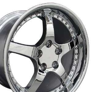 C5 Deep Dish Style Wheels Fits Camaro Corvette   Chrome 17x9.5 18x10.5