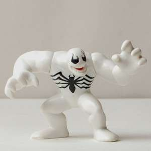 Q98 MARVEL SUPER HERO SQUAD VENOM White Figure RARE