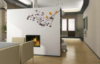TREE BRANCH +3 BIRDS VINYL WALL DECAL STICKER ART DECOR 894708001076