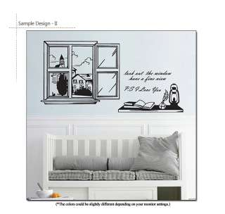 Window Scene Home Decor Art Wall Quotes Decal Stickers