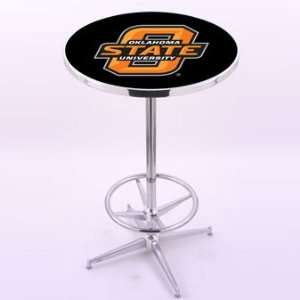 Holland Bar Stool Co. Oklahoma State University Chrome Pub