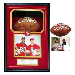 Steve Young & Jerry Rice Autographed / Signed Framed