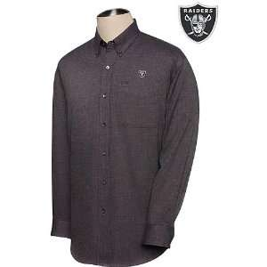 Oakland Raiders Mens Nailshead Long Sleeve Shirt