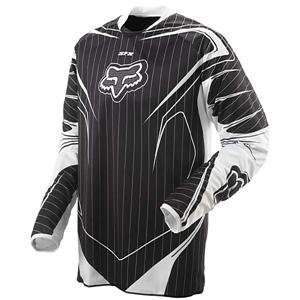 Fox Racing SFX Jersey   2008   Medium/Black Pinstripe Automotive