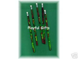 12 Camo Army Military Pencils Hunting Party Favor