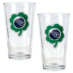 NFL Tennessee Titans St. Patricks Day 2pc Pint Glass Set