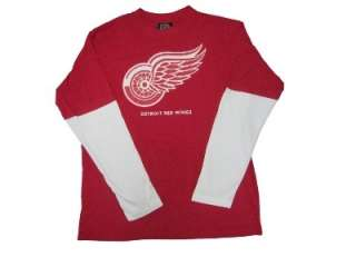 Mens Detroit Redwings Long Sleeve Shirt Jersey Med XL