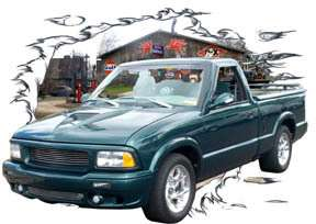 1997 Green GMC Sonoma Pickup Hot Rod Garage T Shirt 97