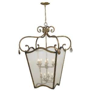 Imports Lighting 4109 90 Chartres 12 Light Foyer Lantern, Antique Gold