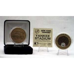 New York Yankees Yankee Stadium Infield Dirt Coin Sports