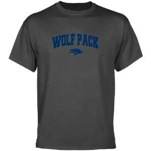 Nevada Wolf Pack Charcoal Logo Arch T shirt  Sports