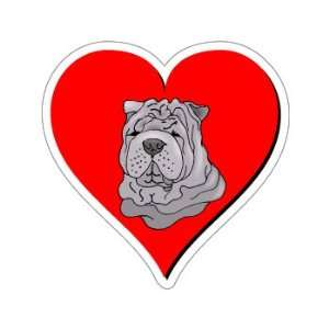 Shar Pei Love   Window Bumper Sticker Automotive