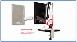 LED, LCD Monitor Mount Stand Clamp installation 15~24