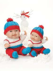 Knitting Patterns LOTS LOVE Baby 8 &10 Doll CLOTHES