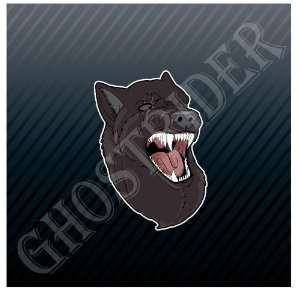 Monster Wolf Hunter Killer Devil Car Trucks Sticker Decal