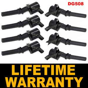 IGNITION COIL FORD LINCOLN MERCURY DG508 SET OF 8