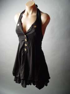 MILITARY Steampunk Sailor Nautical Halter Dress M