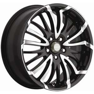 Menzari Slide 17x7.5 Black Wheel / Rim 5x4.25 & 5x4.5 with