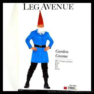 Mens 4 PC. GARDEN GNOME Dwarf Lawn Roaming Leg Avenue 83687 Adult