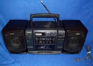 SONY Boombox CFD 530 CD~Cassette~AM/FM Radio~Mega Bass With Detachable