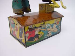 MARX Popeye & Olive Oyl Jiggers Wind up Tin Toy