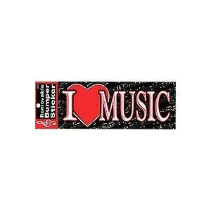 I LOVE MUSIC BUMPER STICKER