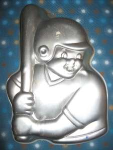 Wilton Birthday Boy Baseball Player Cake Tin Pan Mold 1992 NICE