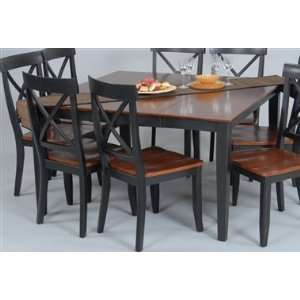 Ligo RDT 200S CB Contemporary Square Dining Table   Black