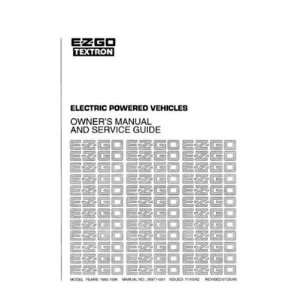 and Service Guide for Electric Utility Vehicles Patio, Lawn & Garden