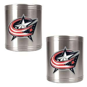 Columbus Blue Jackets NHL 2pc Stainless Steel Can Holder
