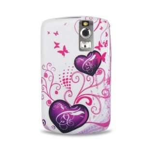 Purple Heart Butterfly Soft Silicone Skin Gel Cover Case