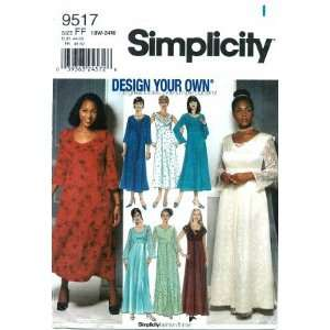 Simplicity 9517 Sewing Pattern Dress Gown Wedding