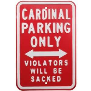 NFL Arizona Cardinals Red Sacked Parking Sign