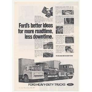 1971 Ford Heavy Duty Trucks More Roadtime Print Ad