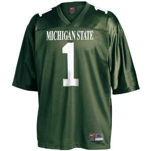 Nike Michigan State Spartans #1 Green Replica Football Jersey