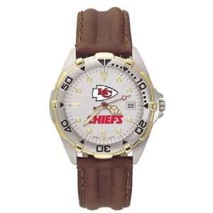 Kansas City Chiefs Mens NFL All Star Watch (Leather Band)