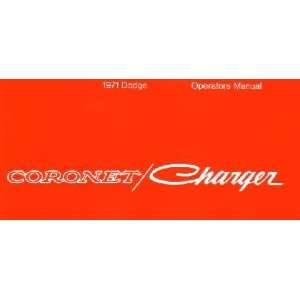 1971 DODGE CORONET CHARGER Owners Manual User Guide