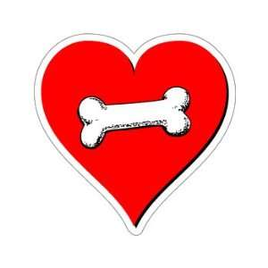 Dog Bone Love   Window Bumper Sticker Automotive