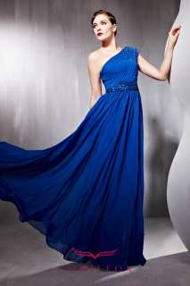 CONIEFOX 2012 Best selling Graceful Blue Long Party Gowns Prom Dresses