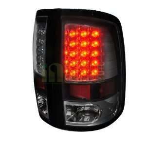 2009 2012 Dodge Ram Led Tail Lights Black Housing
