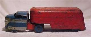 highway freight hauler red blue pressed steel truck 1940 s search