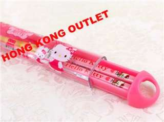 Sanrio Hello Kitty Wooden Chopsticks + Case Box B37a