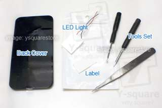 GSM iPhone4Luminescent Apple LED Light Up Logo Glowing Mod Kit+Tools