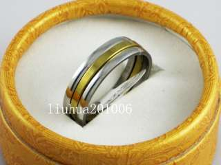 Wholesale   NEW 25 pcs trinity gold plate polish stainless steel rings