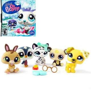 Animal Toys Littlest Pet Shop Figure Figurines 5pcs 5cm NEW #20