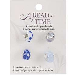Bead at a Time Light Blue and White Glass Bead Value Pack